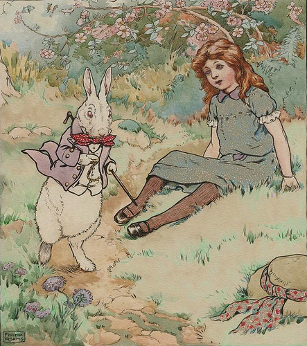 Alice and White Rabbit